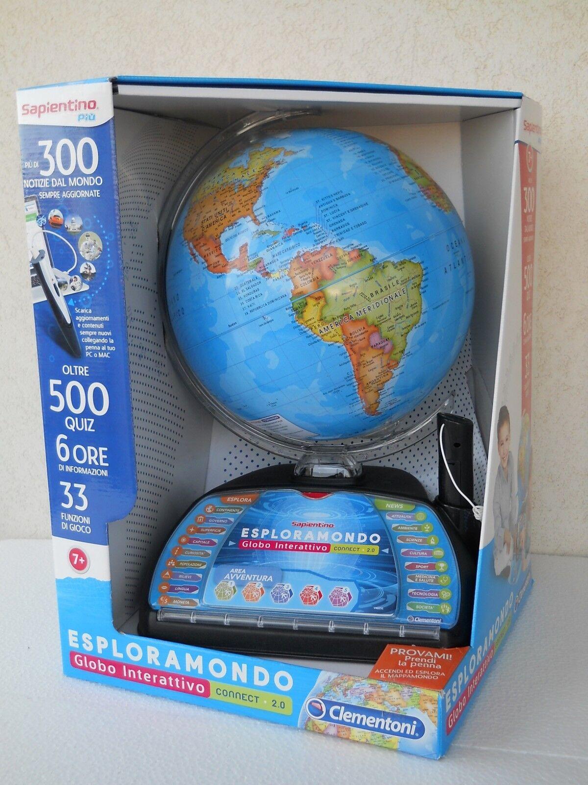 Esploramondo connect 2.0 italian mappa globe globus globo interactive clem 11992