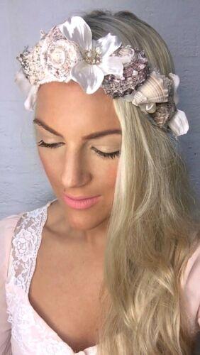 Sea Shell Pearl Flower Crown Mermaid Beach Hair Head Choochie Bohemian Hippie