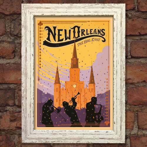 NEW ORLEANS VINTAGE RETRO TRAVEL Poster Nostalgic Home Print Wall Art Decor #58