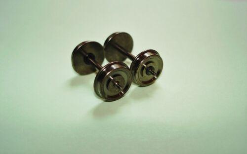 10x H0-RP25 Radsätze-Zapfenachsen für TRIX Lkdm.11,0mm;Achslänge 25,4mm e.i.NEU