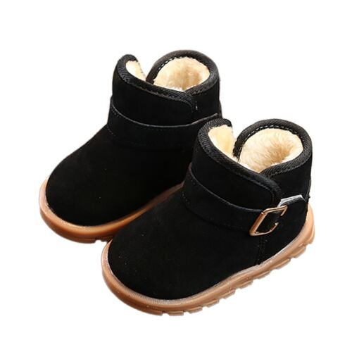 UK Toddler Baby Boy Girl Soft Sole Shoes Booties Warm Snow Boots Prewalker 1-6T