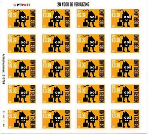 Onbekende-plaatfout-V1988-gele-vlekjes-naast-zegels-16-en-20-postfris