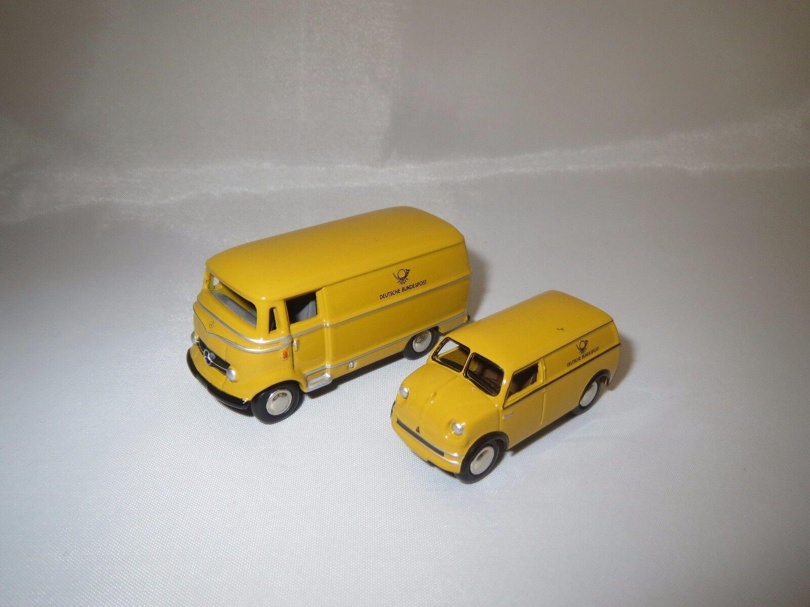 Bouèbe 010636 Mercedes-Benz l319 et Lloyd LT 500  DEUTSCHE POST  1 87 NEUF dans sa boîte