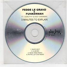 (GJ561) Fedde Le Grand & Funkerman, 3 Minutes to Explain - DJ CD