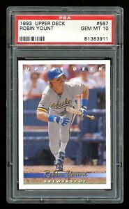 1993-Upper-Deck-ROBIN-YOUNT-Card-587-PSA-10-GEM-MINT-Milwaukee-Brewers