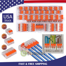75xfor 221 412 Electrical Connectors Wire Block Clamp Terminal Cable 235 Ways
