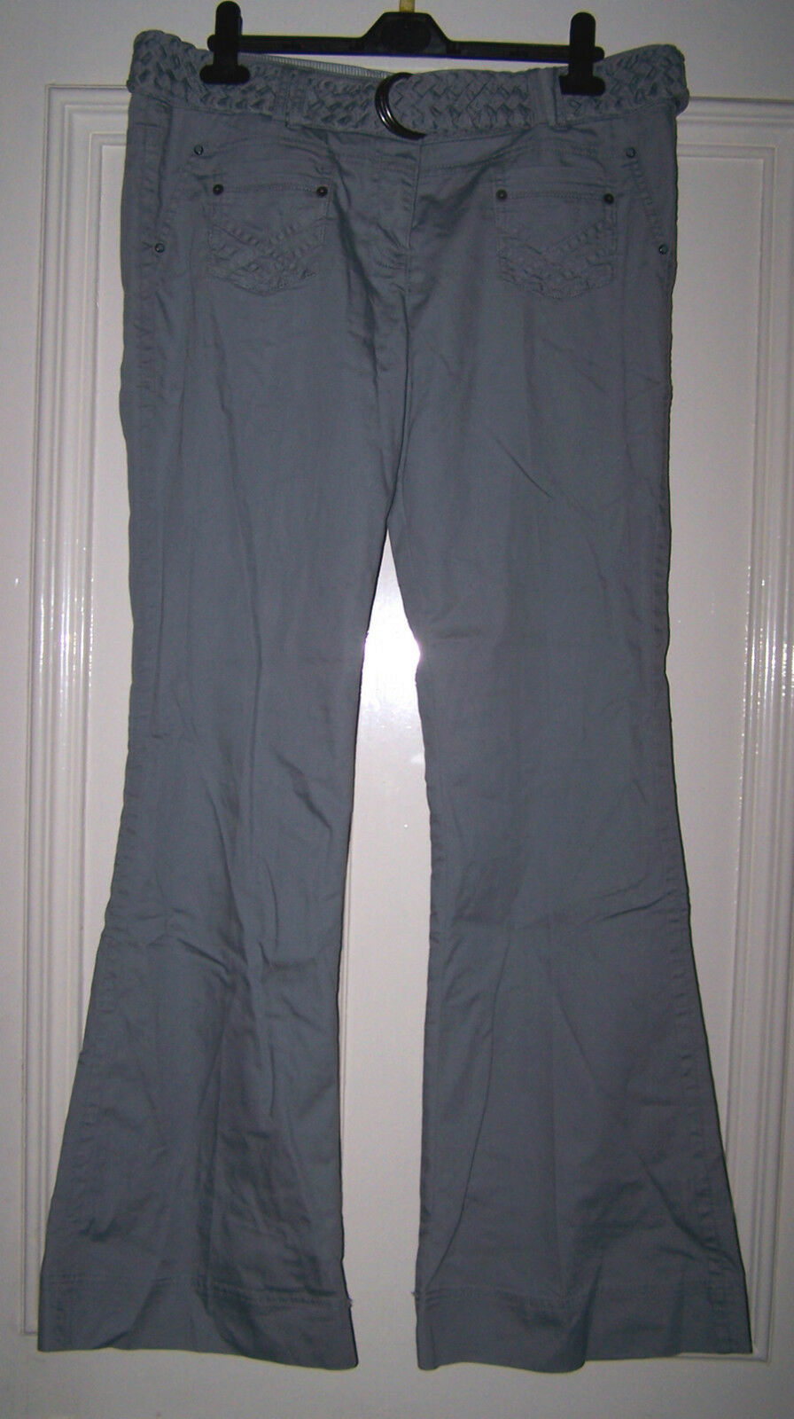 NEXT Ladies bluee Grey Casual Trousers with Belt
