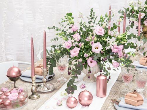 or rose 4 cm Fête de Noël, Métallisé Flottante Bougie Or Argent