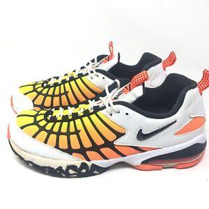 b44c064cffceb5 Nike Air Max 120 White Black Hyper Orange Yellow 819857-100 Mens Sz ...