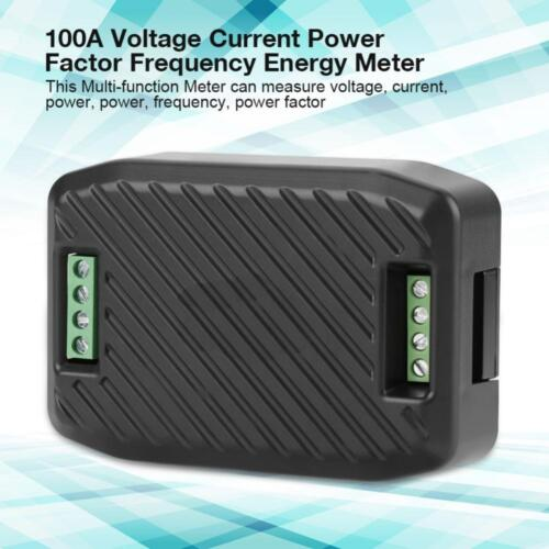 PEACEFAIR 100A Meter Voltage Current Power Factor Frequency Energy Tester GHS