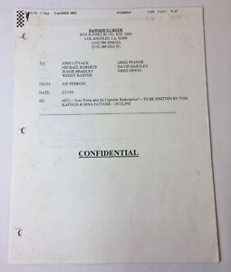 DAWSON-039-S-CREEK-set-used-paperwork-EPISODE-OUTLINE-Season-6-Episode-22