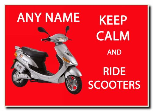 Keep Calm And Ride Scooters Personalised Jumbo Magnet