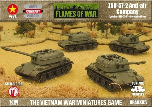 ZSU - 57- 2 ANTI-AIR COMPANY - FLAMES OF WAR - WW2 WARGAMES - VPABX05