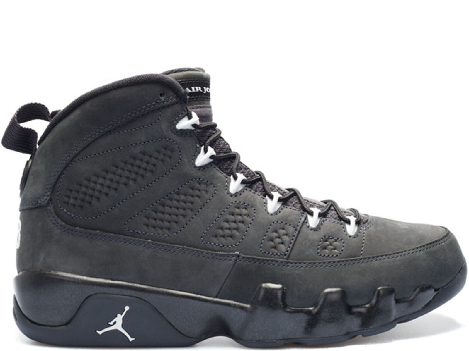 Men's Brand New Air Jordan 9 Retro  Anthracite  Athletic Sneakers