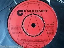 """VINYL 7"""" SINGLE - LETS MAKE LOVE - CAST OF GUYS AND DOLLS - MAG98"""