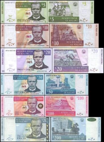 Malawi 5-200 Kwacha 2004//2007 UNC**New Date