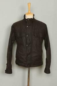 BARBOUR-Drover-WAXED-Jacket-Brown-Size-Medium