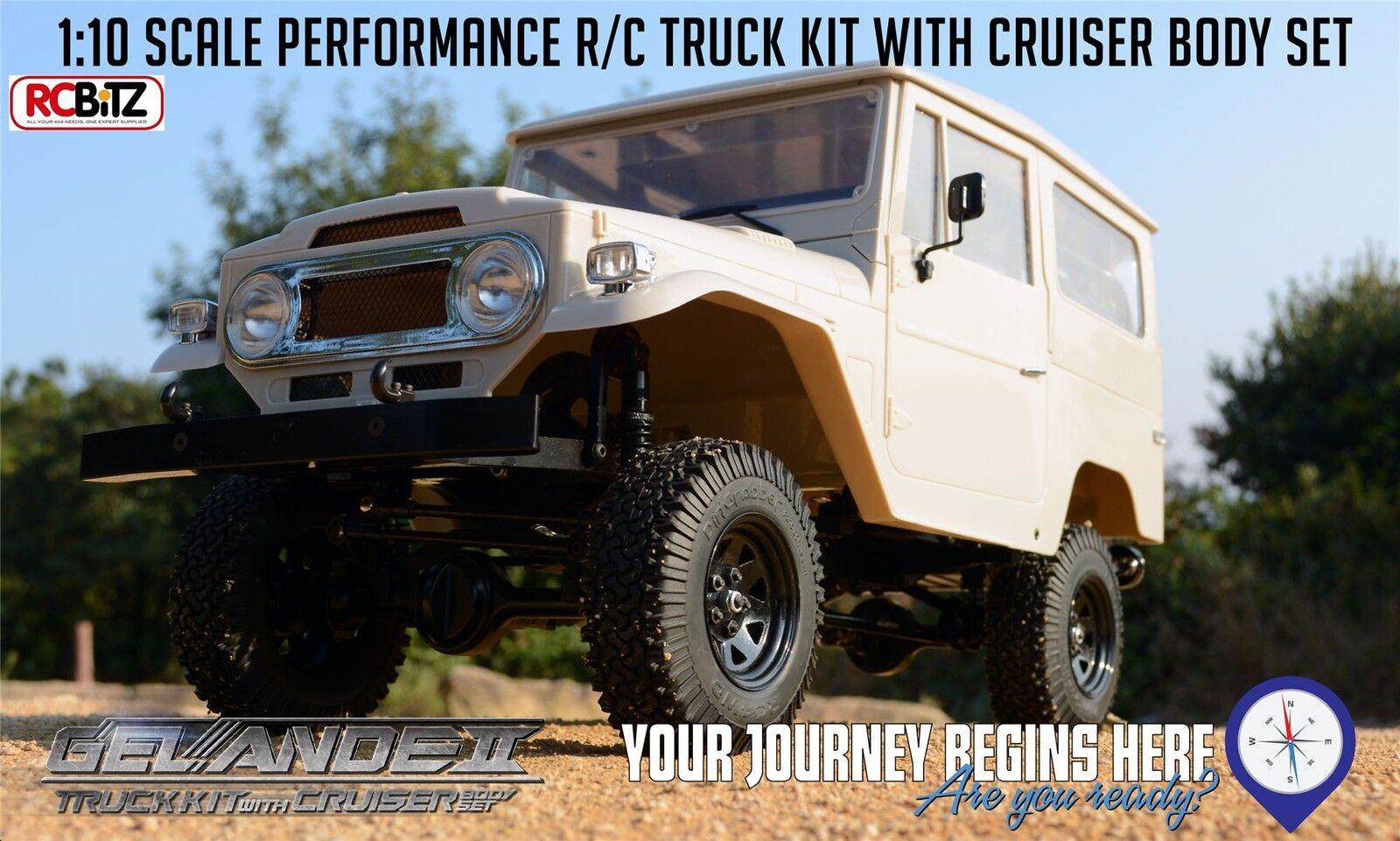 KIT Gelee II CAMION giocattoloota CRUISER  Hard corpo dettagli interni FJ40 RC4WD Z-K0051  sconto
