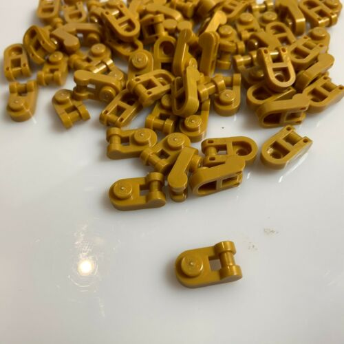 """75 NEW LEGO Warm Gold /""""Pearl Gold/"""" Plate 1X1 Round W// 3.2 Shaft 26047//6212377"""