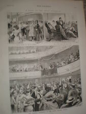 Carnival bal masque at the Tacon theatre Havana Cuba 1876 print ref V
