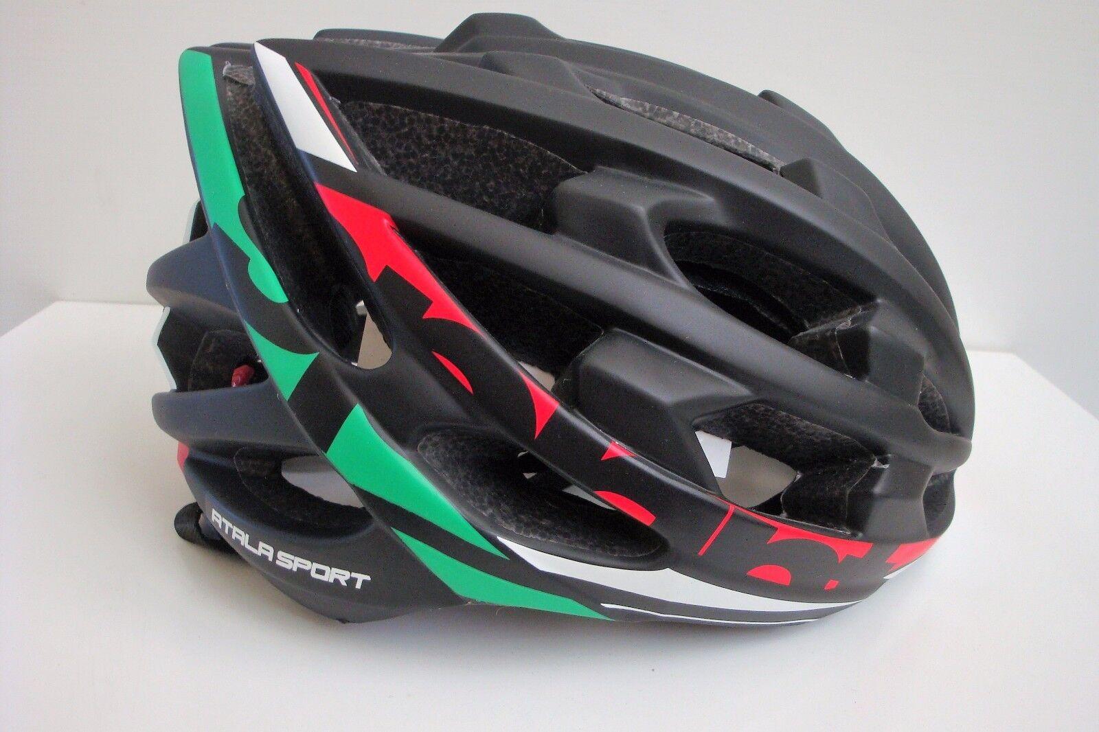 Casco Bici MTB Atala Sport mod. Sprint Italia col. Nero Tricolore Tricolore Nero Tg. L (58-61) fac932