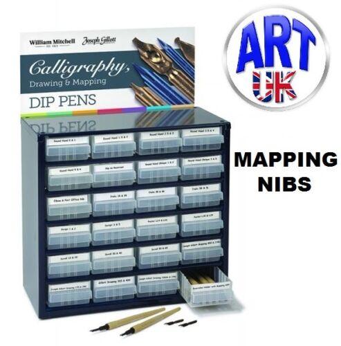 Joseph Gillott MAPPING PEN NIBS writing draw italic sketch dip ink Calligraphy