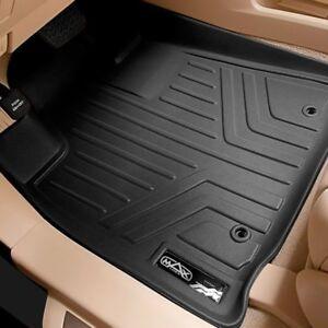 SMARTLINER Floor Mats 2nd Row Liner Black for 2017-2018 Mazda CX-5
