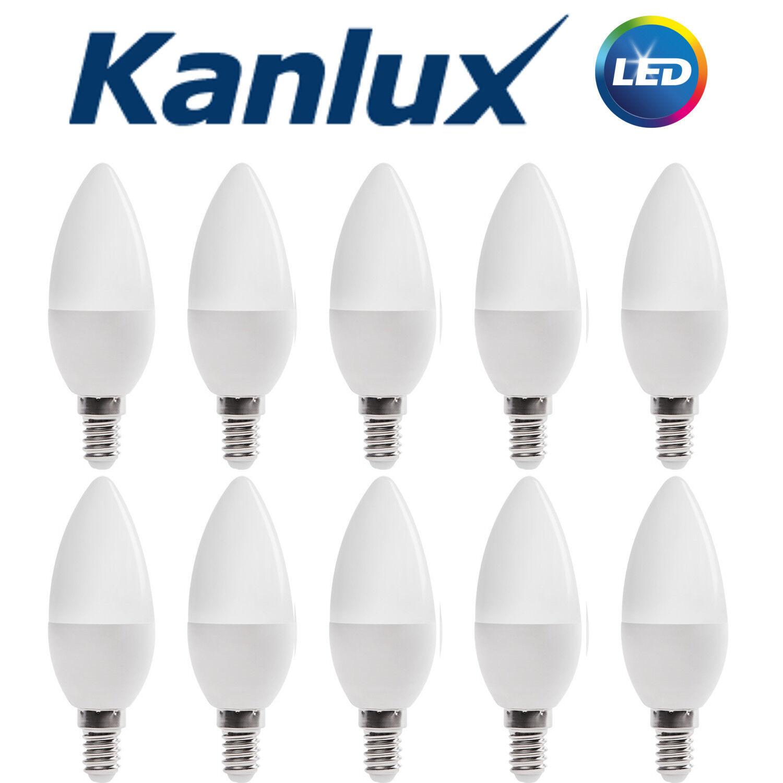 10x Kanlux LED Light Bulb Lamp E14 6.5W Candle 4000K High Lumen Neutral White