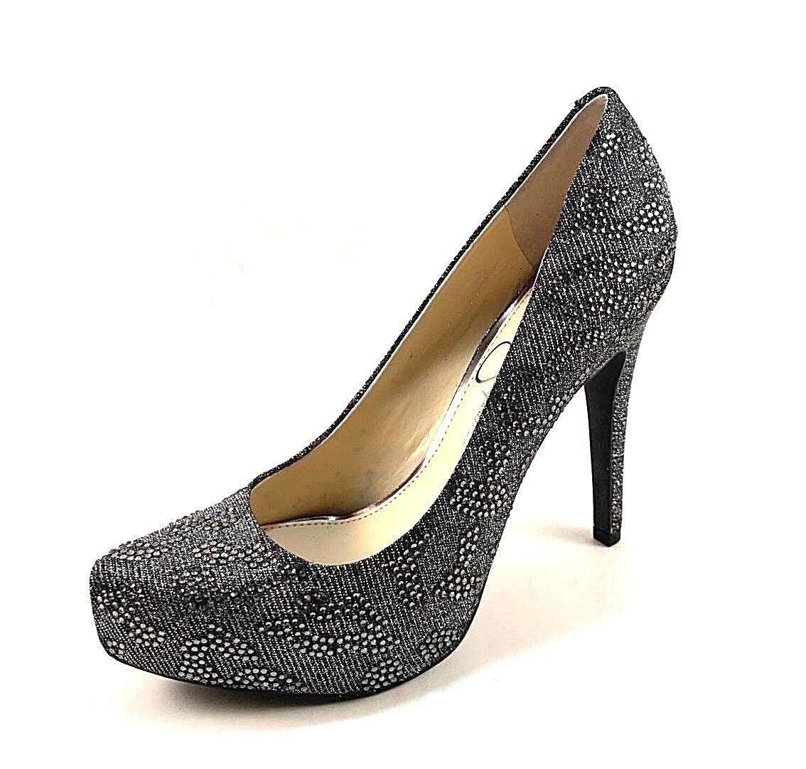 Jessica Simpson Parisah 4 Pewter Multi High High High Heel Platform Dressy Pumps 94a740