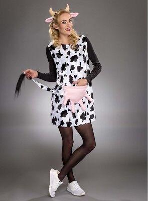 Kuh KOSTÜM Mädchen Damen Verkleiden Fasching Karneval Dress Up Halloween