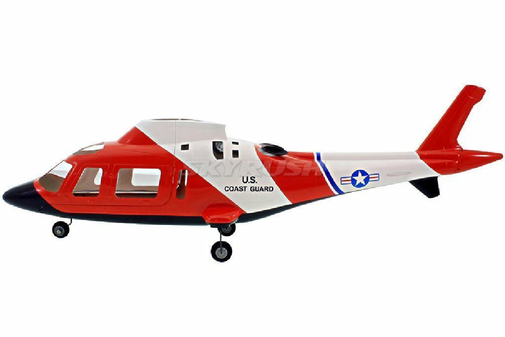T Rex 500 Copter X Scale Coque Augusta AW109 Coast Guard