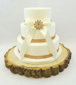 Image Is Loading ROSE GOLD WEDDING CAKE BRIDAL BROOCH RIBBON Amp