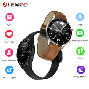 Lemfo-L7-ECG-Reloj-inteligente-Monitor-de-sueno-IP68-Bluetooth-Android-iPhone