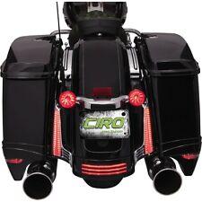 Ciro Chrome LED Filler Panel Lights For Harley 2006-2009 Street Glide FLHX