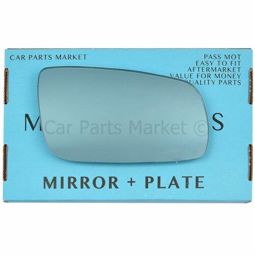 Plaque Droit Côté Conducteur Flat Blue Wing Door Mirror Glass for AUDI A3 1996-2000