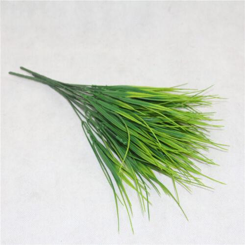 Plastic Outdoor Artificial Flowers Fake False Plants Grass Garden Lily Tulip SO^