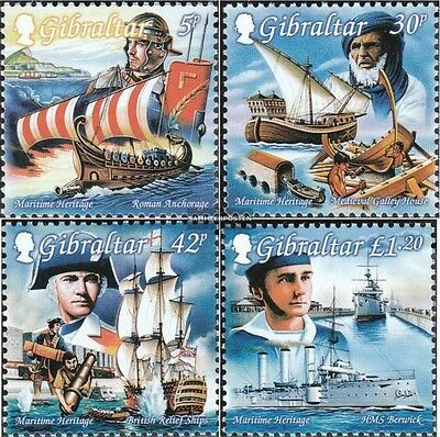 complete Issue Never Hinged 1999 Maritime Industrious Gibraltar 871-874 Unmounted Mint