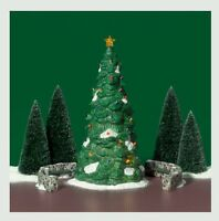 Town Tree 55654 Set/5 Dept 56 Retired Christmas In The City Village