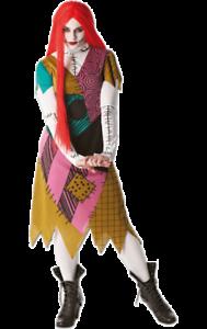 Womens Nightmare Before Christmas Sally Costume Halloween Film Fancy Dress