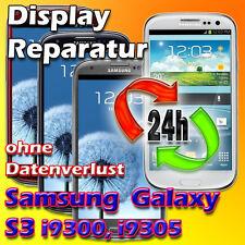 24 Stunden Reparatur Samsung Galaxy S3 Display Glas Austausch Weiß Blau Garantie