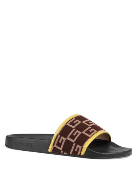d3f935215200 100 Authentic Men Gucci Pursuit Leather GG Sandals UK 10 us 11 for ...
