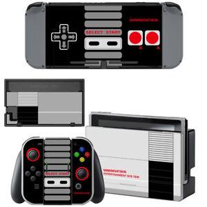 Nintendo-Switch-Console-Joy-Con-Skin-NES-Retro-Vinyl-Decal-Stickers-Covers
