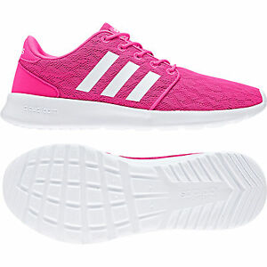 Details zu ADIDAS CLOUDFOAM QT RACER W pinkwhite BB9847 NEO Damen Sneaker Sportschuhe