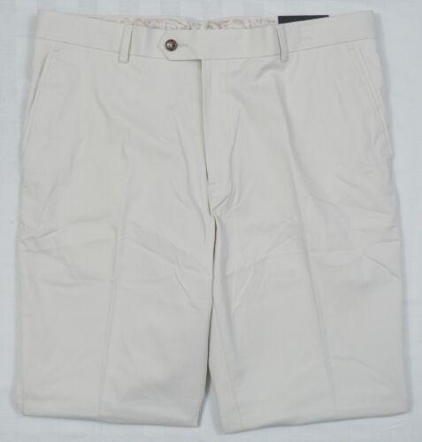 Tasso Elba #4246 Nouveau Homme Blanc Brouillard Signature Pantalon Chino PDSF $69.50