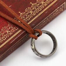 HOT Uncharted 4 Nathan Drake's Vintage Band Ring Leather Code Pendant Necklace