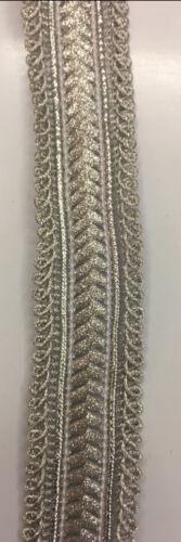 Hermoso Lazo Vintage Bordado Brillo 2.5 cm de ancho por metro
