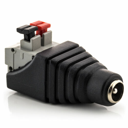 4x dc conector hueco hembra 5,5 x 2,1 mm a terminal bloque 2-pin adaptador bornas