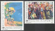 UN (NY) 1988 Health in Sports/Cycling/Marathon Running/Bikes/Bicycle 2v (n41732)