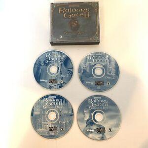 Baldur-039-s-Gate-2-II-Shadows-of-Amn-PC-2000-4-Disc-Set-Complete