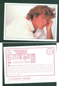 George-Micheal-7x10-cm-Sticker-Brand-New-n-12-Notes-on-the-Back-1986